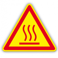 etichete pentru utilaj cu temperaturi mari