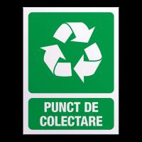 indicatoare pentru punct de colectare deseuri