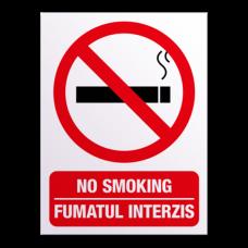 indicatoare fumatul interzis in limba romana si engleza