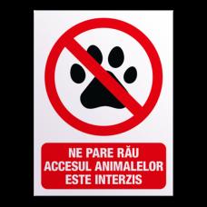 indicatoare pentru caini si animale de companie