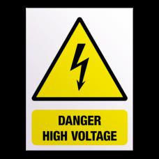 sign danger high voltage