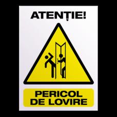 indicatoare atentie pericol de lovire