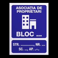 indicatoare pentru scari de blocuri
