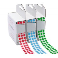 puncte colorate din autocolant
