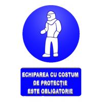 indicatoare pentru echiparea cu costum de protectie