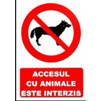 indicatoare pentru interzicerea animalelor