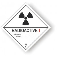 etichete Clasa 7 Materiale radioactive, categoria I