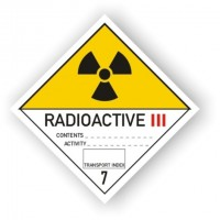 etichete clasa 7 Materiale radioactive, categoria III
