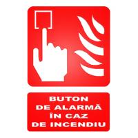 indicatoare pentru butoane de alarmare in caz de incendiu