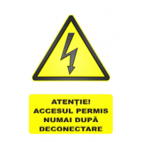 indicatoare pentru deconectarea de la electricitate