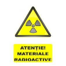 indicatoare pentru materiale radioactive