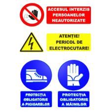 Indicatoare de interzicere si avertizare pentru obligativitate