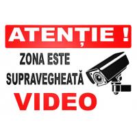 indicatoare pentru supraveghere in  perimetru de activitate