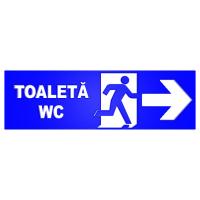 indicatoare cu sageti pentru wc