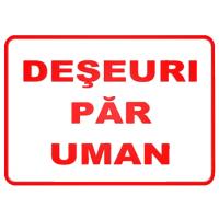 indicatoare pentru deseuri par uman