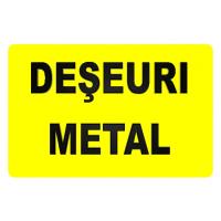 indicatoare pentru deseuri metal