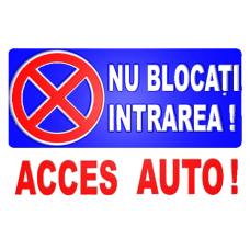 indicatoare pentru parcari si acces auto