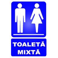 indicatoare pentru toalete mixte