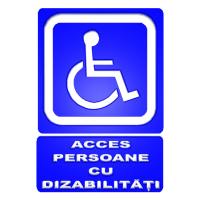 indicator pentru accesul persoane cu handicap