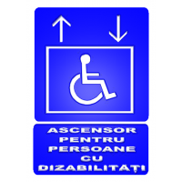 indicatoare lifturi pentru persoane cu dizabilitati