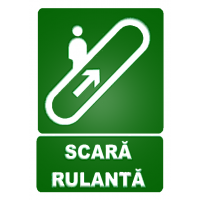 indicatoare pentru semnalizare scari rulante