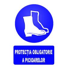 indicatoare pentru protectia obligatorie a picioarelor