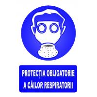 indicatoare pentru protectie obligatorie a cailor respiratorii