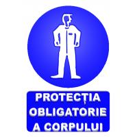indicatoare pentru protectie obligatorie a corpului